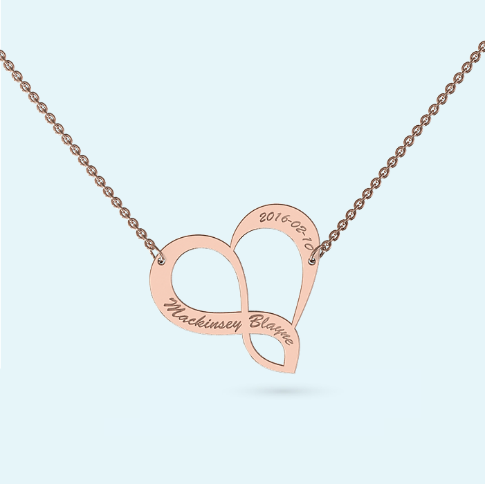 Gold Infinite Love Necklace