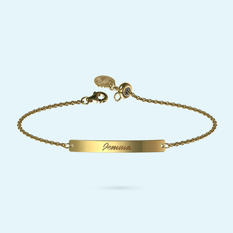 Yellow Gold Bar Bracelet