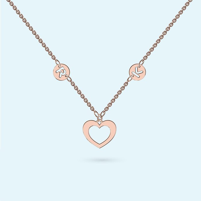 Rose Gold Love Heart Necklace