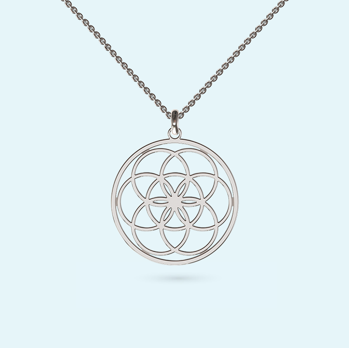Seed Of Life necklace in sterling silver