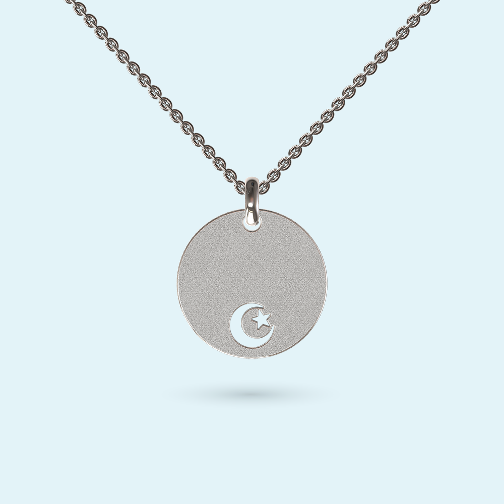 Moon and Crescent Disk Pendant