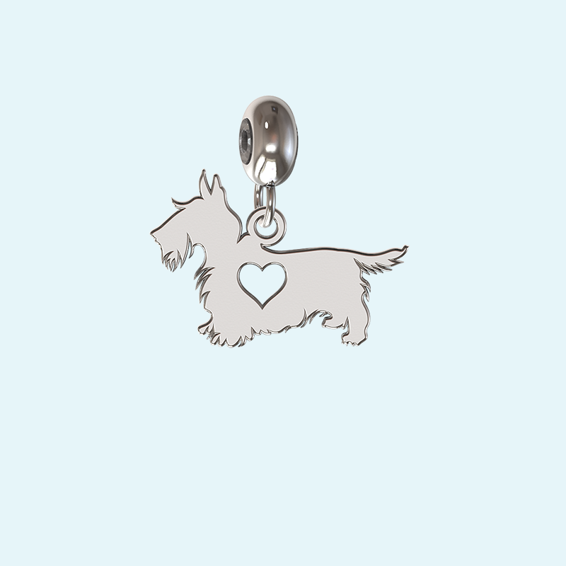 silver scotty dog charm