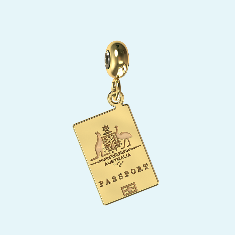 yellow gold australian passport