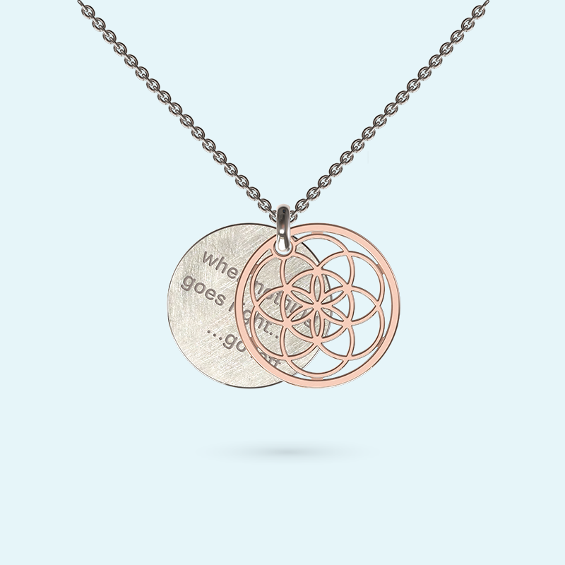 Gold Seed of Life Inside Story Necklace