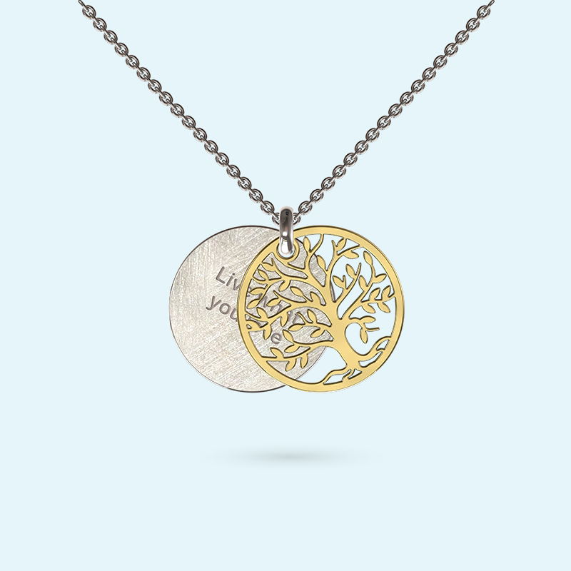 Tree of Life Inside Story Necklace