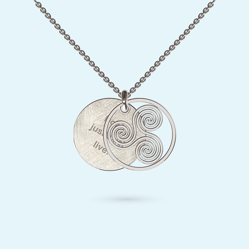 Wheel of life Inside Story Necklace