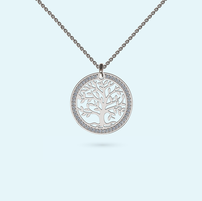 Diamond Seed of Life Necklace