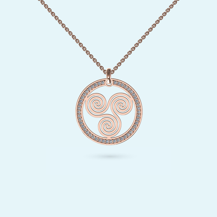Diamond Wheel of Life Necklace