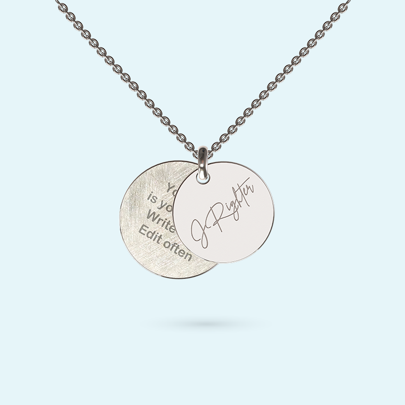 Personalised Graphic Inside Story Necklace