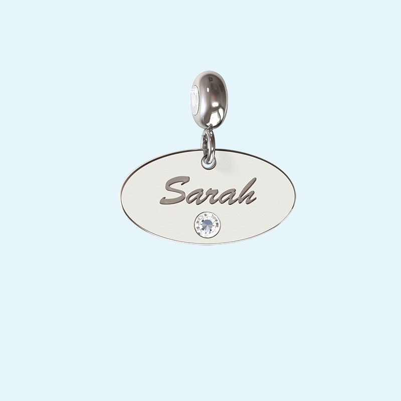 Personalised oval charm