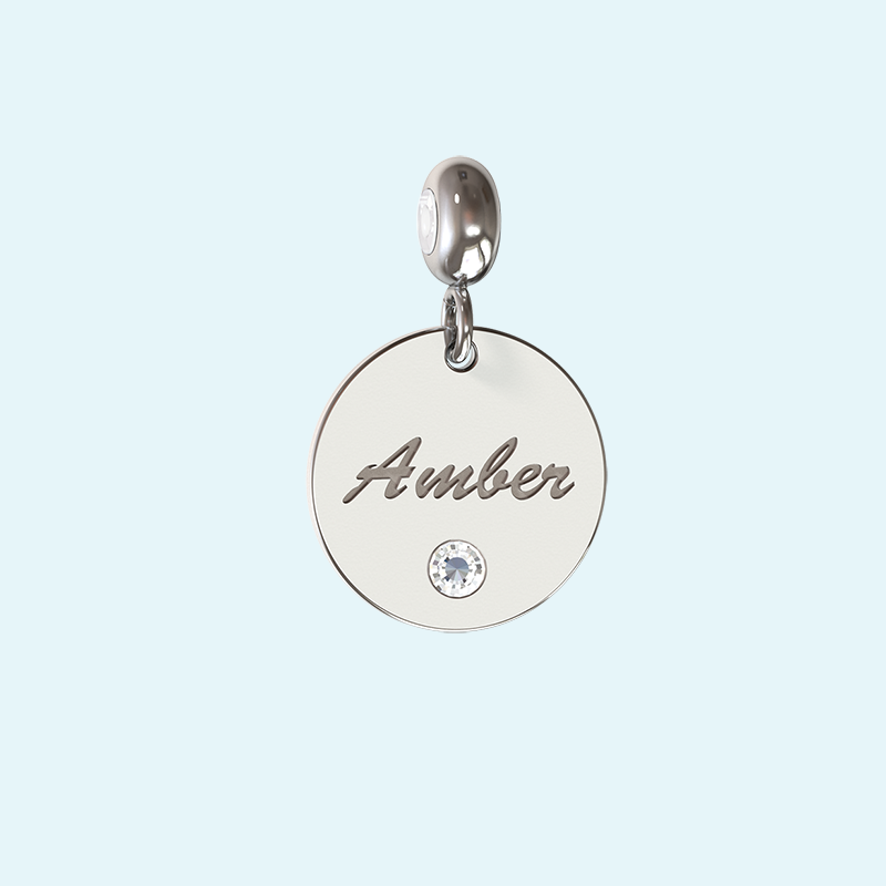 Personalised disk charm