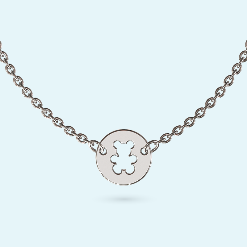 mini teddy bear necklace