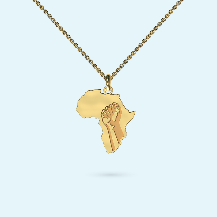Stronger together Africa Necklace