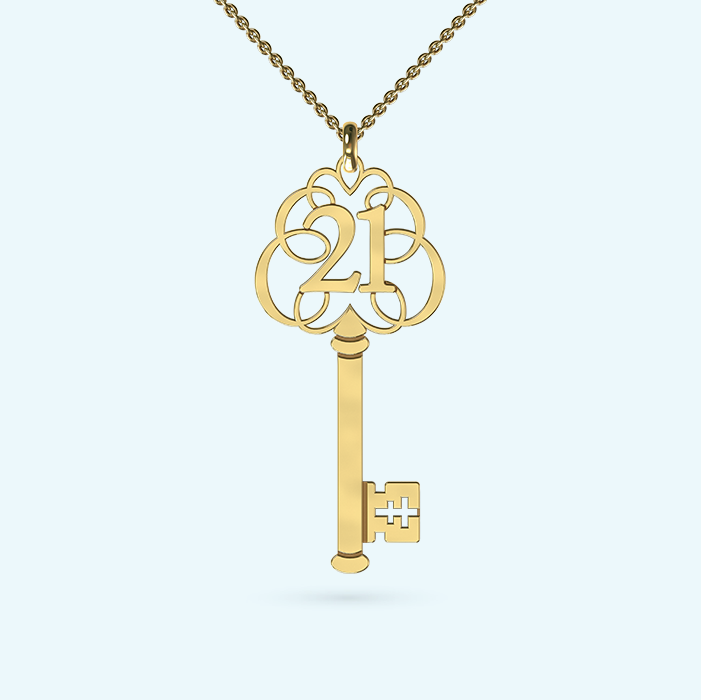 21st Key Pendant necklace