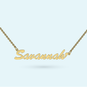 Classic name necklace in solid gold or sterling silver