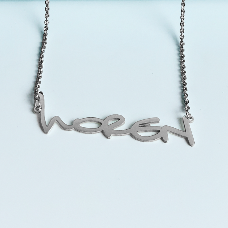 Custom font classic name necklace