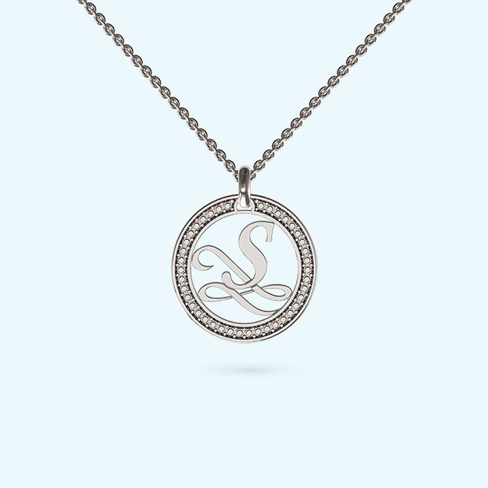 Like a diamond initial necklace in sterling silver