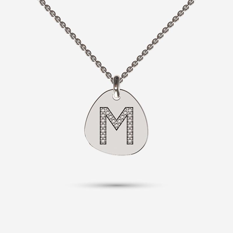 Looks like a diamond Initial necklace