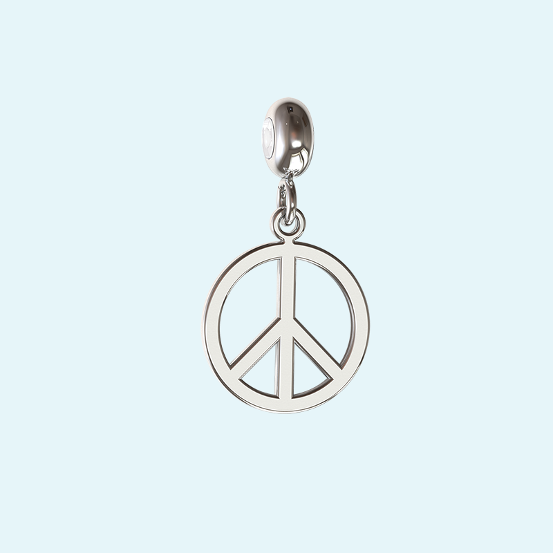 Sterling silver peace charm