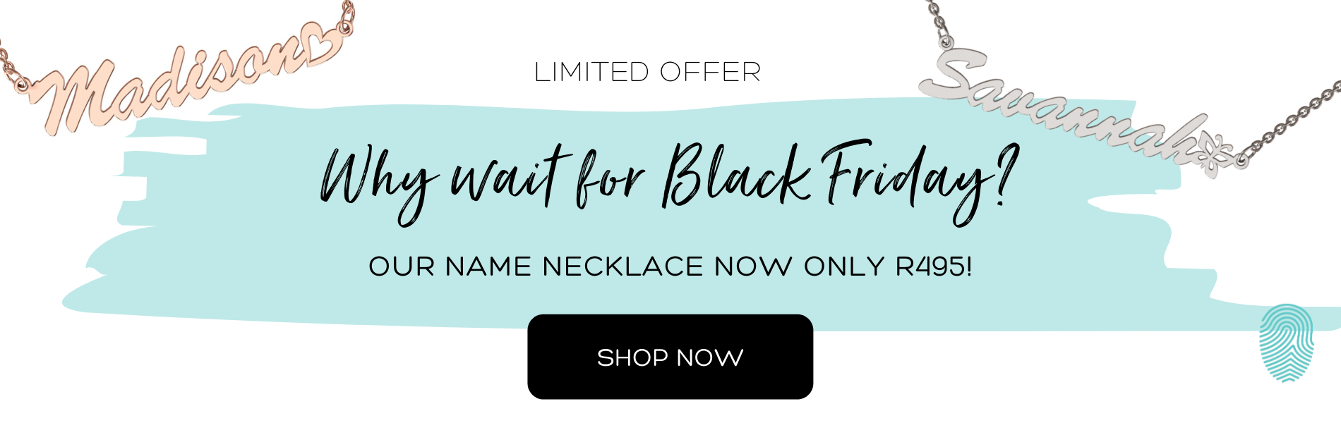 Black Friday Name necklace