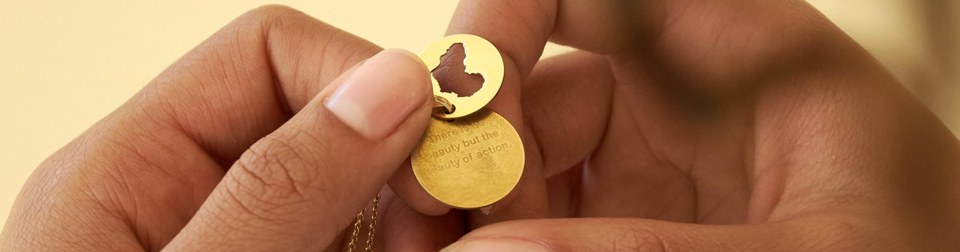 engraved private message on your solid gold or sterling silver necklace