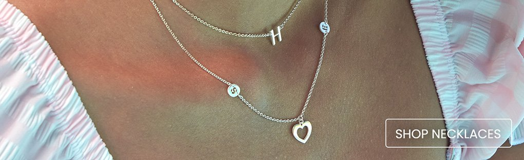 Personalised necklaces in solid gold or sterling silver online jewellery shop