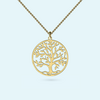 Tree of Life necklace in solid gold