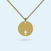 Cut Out Cross Disk Pendant