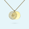 Gold Sri Yantra Inside Story Necklace
