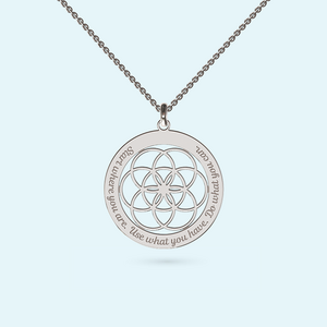 Personalised seed of life chakra necklace in sterling silver