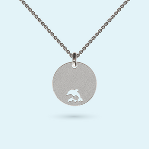 Dolphin Disk Necklace
