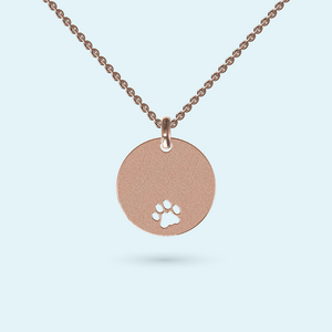 Paw print necklace