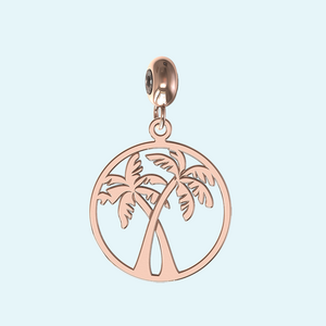 rose gold palm trees charm
