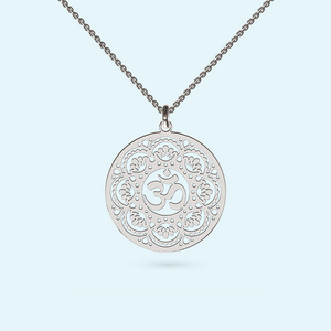 Beautiful Om necklace in Sterling Silver