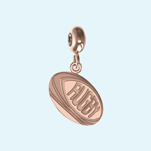 rugby ball charm