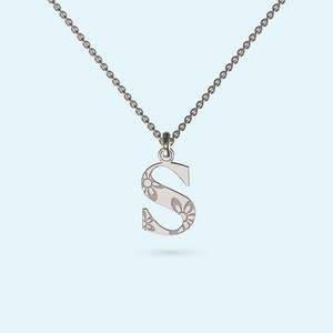 Wallpaper Initial Necklace