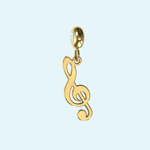 Treble Cleff Music Note Charm