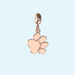 My best friend paw print charm in solid gold