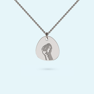 Stronger Together Pebble Necklace