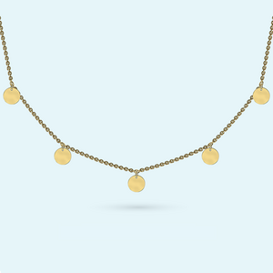 Charm necklace in gold