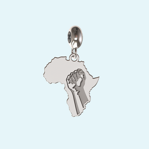 #strongertogether silver Africa charm