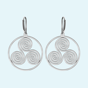 Large wheel of life earrings