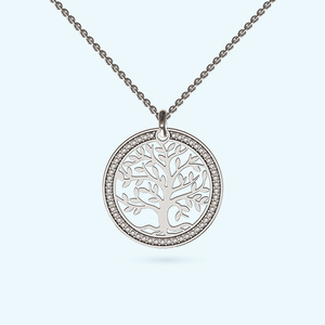 Like a diamond tree of life necklace in sterling silver