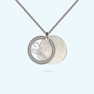 Private message engraved necklace