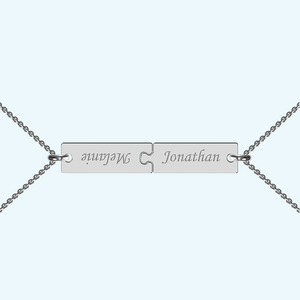 Breakable Bar Necklace in Sterling Silver