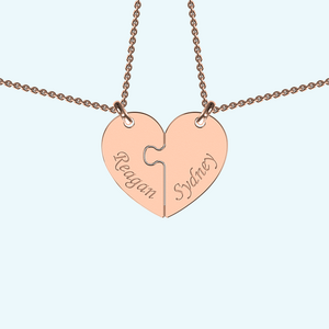 Breakable heart necklace in rose gold