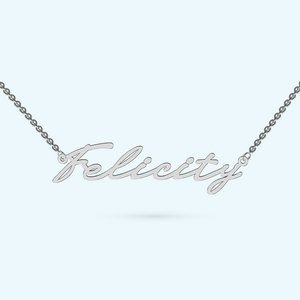 classic signature name necklace in sterling silver