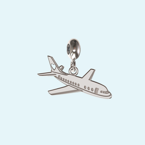 Airplane charm in Sterling Silver