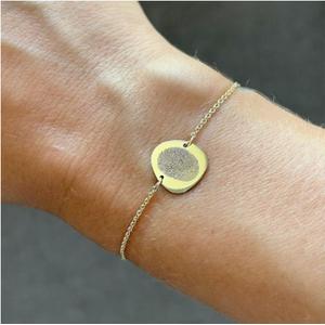 Fingerprint pebble bracelet